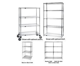 QUANTUM STORAGE CHROME WIRE SHELVING
